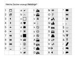 OpenOffice: Welche Zeichen erzeugen Webdings und Dingbats?