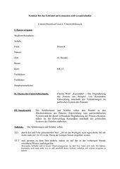 Unterrichtsentwurf zu Kassandra (Christa Wolf)