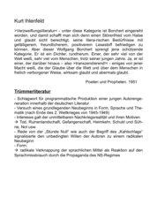 Stundenplanung: Leben von Wolfgang Borchert