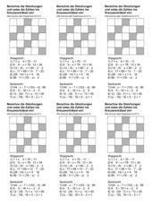 Lösen von Gleichungen als Rätsel