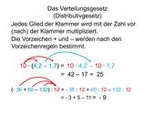 Verteilungsgesetz (Distributivgesetz)