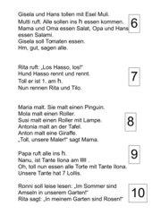 Lesetexte für Freiarbeit (Nr. 6-10)