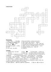 Kreuzworträtsel Indefinido
