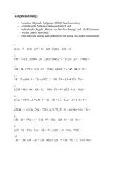 Grundrechenarten mit Riesenzahlen