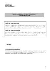 Erkenntnistheorie Lockes 11 (Einführungskurs)