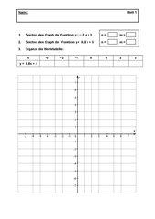 Klassenarbeit Lineare Gleichungen