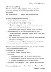 Adverbs Arten & Stellung