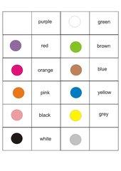 Domino und   Memo-Spiel / Zuordnungsspiel zu den Farben