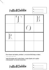 Fußball - Buchstaben -Sudoku