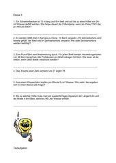 Gemischte Textaufgaben - Klasse 5