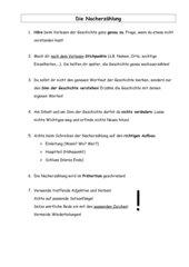 Tipps zum Verfassen einer Nacherzählung