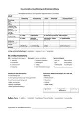 Beurteilungsbogen zur Erlebniserzählung