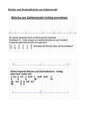 Brüche und Dezimalbrüche am Zahlenstrahl