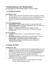 Redeanalyse Weizsäcker 8.11.1992