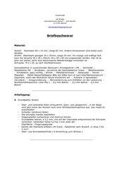 Metallhandarbeit: Briefbeschwerer  - Würfel mit Grundplatte