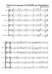 Entreé et Courante CLXXXIII aus Terpsichore