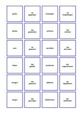 Memo-Spiel / Zuordnungsspiel Infinitiv - Perfekt