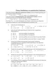 Übung: Handhabung von quadratischen Funktionen