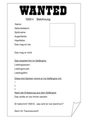 Steckbrief - Wanted