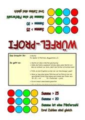 Würfelspiel für den Mathematikunterricht in der 2.Klasse