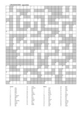 Crossword OPPOSITES ab Kl. 8