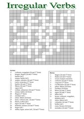 Crossword Irregular verbs