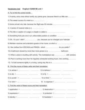 Vocabulary testEnglish G2000 B6 unit 1