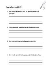 Kennenlernbogen Deutsch