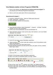 Website erstellen mit DFM2HTML