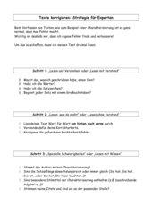Strategien zur Überarbeitung eigener Texte