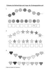 Reihenfolgen erkennen - Ordnungszahlen schreiben