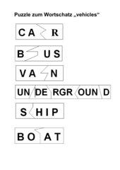 Puzzle zum Wortschatz