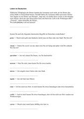 Rätsel: Latein im Deutschen