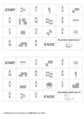 4 Dominos zum Zuordnen abgeleiteter Brüche (Teil 2)