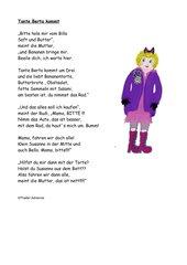Gedicht: Bitte hole mir vom Billa.........