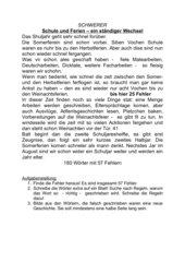 Rechtschreibung - Fehlersuchtext 180 Wörter, mit Lösung