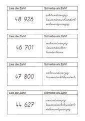 Kippkarten Zahlen bis 100 000