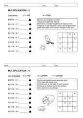 2 Stationen zur Übung der Multiplikation (mehrstelliger Faktor x 2stelliger Faktor)