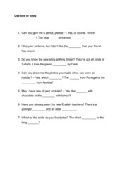 Übung: Die Stützwörter