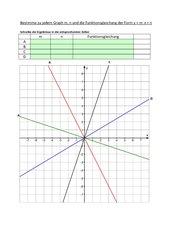 AB zur Bestimmung der Steigung m und n bei linearen Funktionen