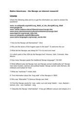 Navajo internet questionnaire, Highlight B5, Unit 2