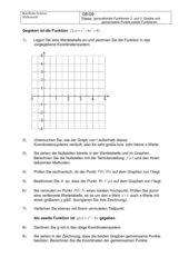 Verlauf ganzrationaler Funktionen 3. Grades; Schnittpunkte zweier Funktionen
