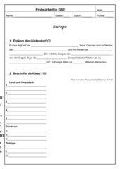 Einfache Abfragearbeit über Europa HS Bayern Klasse 8