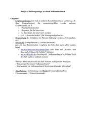 Radioreportage Vulkanausbruch Projekt / Gruppenarbeit