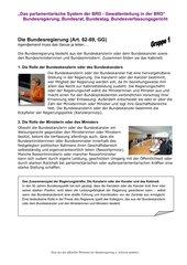 BRD Bundesorgane Gruppenarbeit