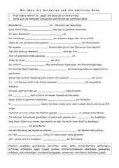 Satzarten-Wortschatz-Wörtliche Rede