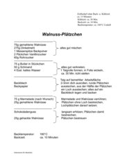 Walnuss-Plätzchen