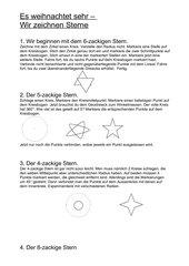 wir zeichnen verschiedene Sterne (Weihnachtssterne)