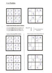 Eigene 4er-Sudokus erstellen