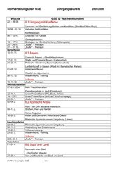 Stoffverteilungsplan GSE 6. Klasse HS Bayern
